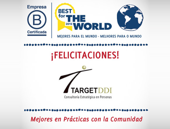 TARGET DDI , obtiene Premio de The Best for Community 2015
