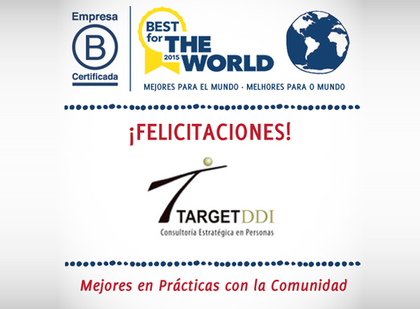 TARGET DDI , obtiene Premio de The Best for Community 2015