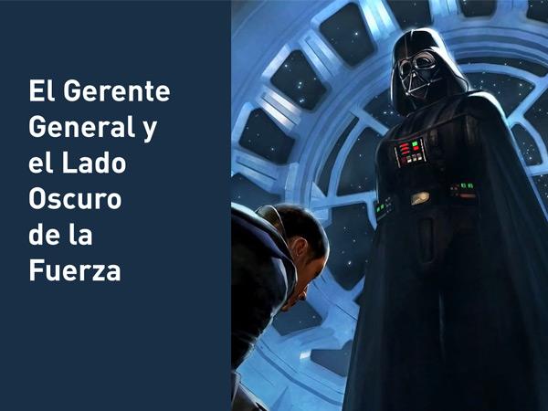 La guerra de las galaxias nos plantea que el más sabio de los sabios, el líder de líderes, también puede ser absorbido por fuerzas oscuras.