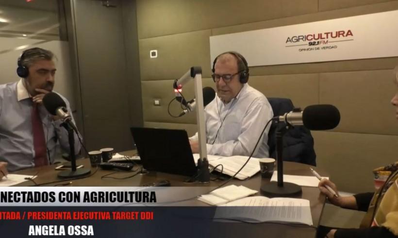 Entrevista a nuestra Presidenta de Target-DDI Angela Ossa en Radio Agricultura