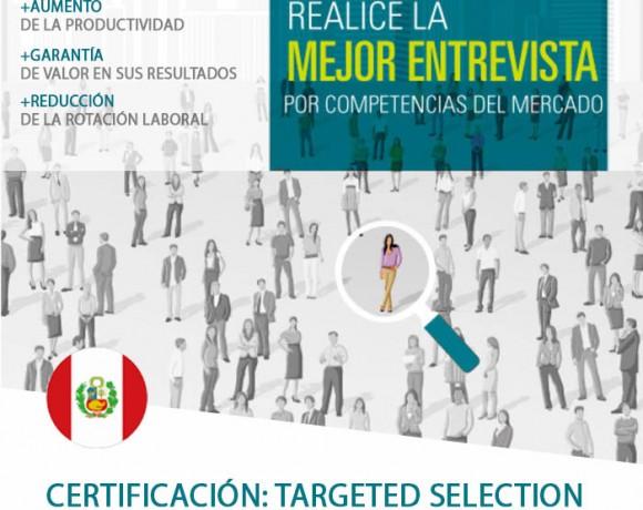 CERTIFICACIÓN : TARGETED SELECTION – PERÚ